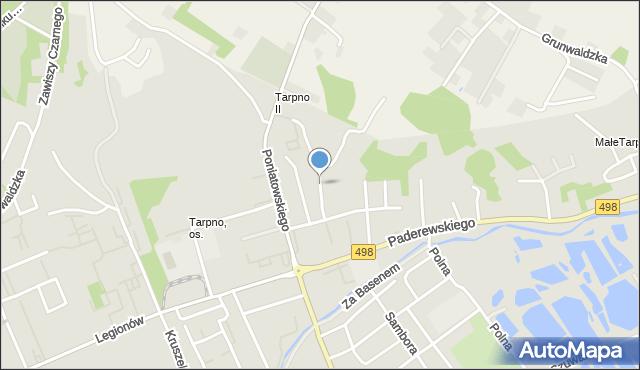 Grudziądz, Elbląska, mapa Grudziądza