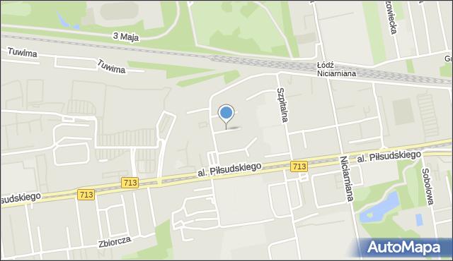 Łódź, Elana, mapa Łodzi