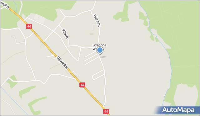 Mikołów, Elsnera Józefa, mapa Mikołów