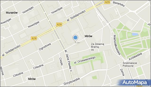 Warszawa, Elektoralna, mapa Warszawy