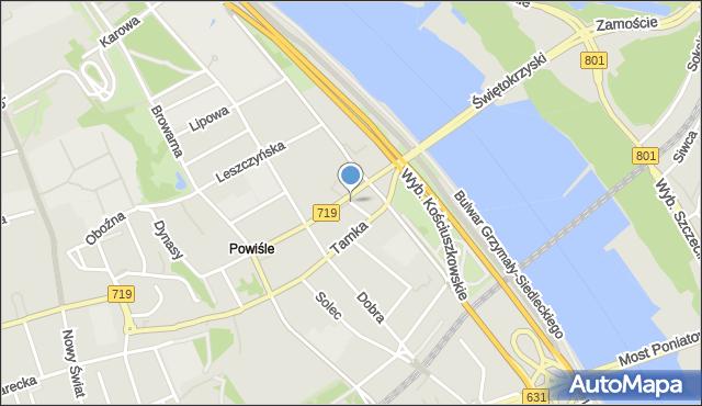 Warszawa, Elektryczna, mapa Warszawy