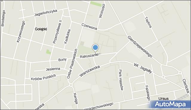 Warszawa, Elżbiety Rakuszanki, mapa Warszawy