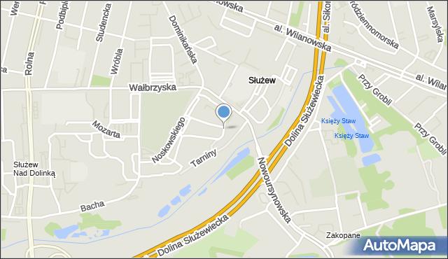 Warszawa, Elsnera Józefa, mapa Warszawy