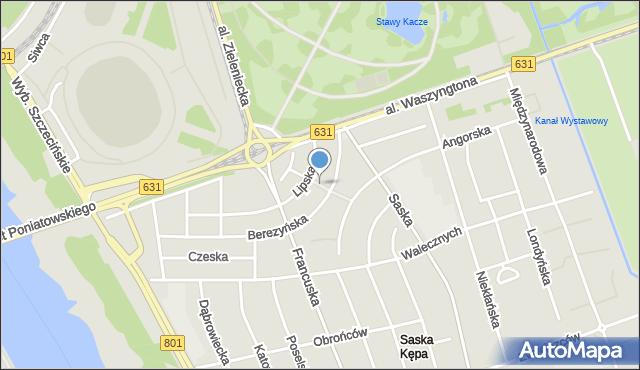 Warszawa, Elsterska, mapa Warszawy