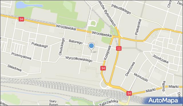 Bytom, Estreichera Karola, mapa Bytomia