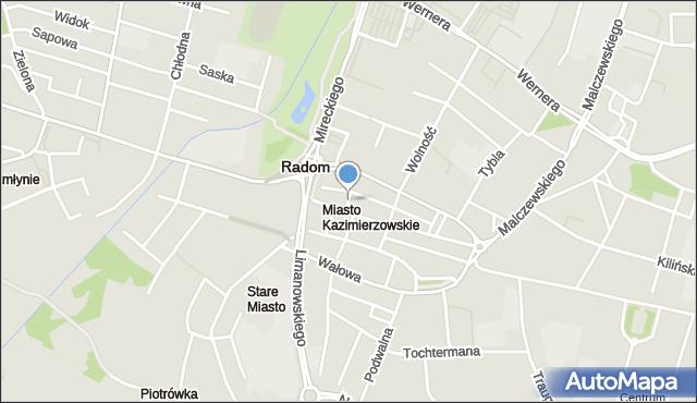 Radom, Esterki, mapa Radomia