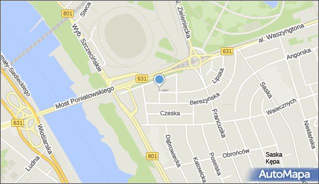 Warszawa, Estońska, mapa Warszawy