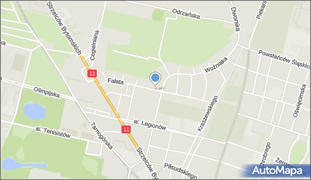 Bytom, Fałata Juliana, mapa Bytomia