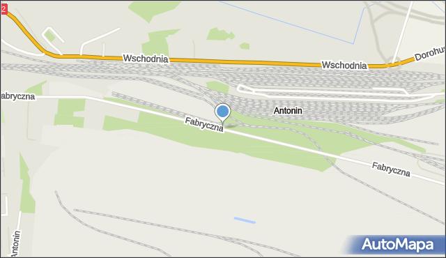 Chełm, Fabryczna, mapa Chełma