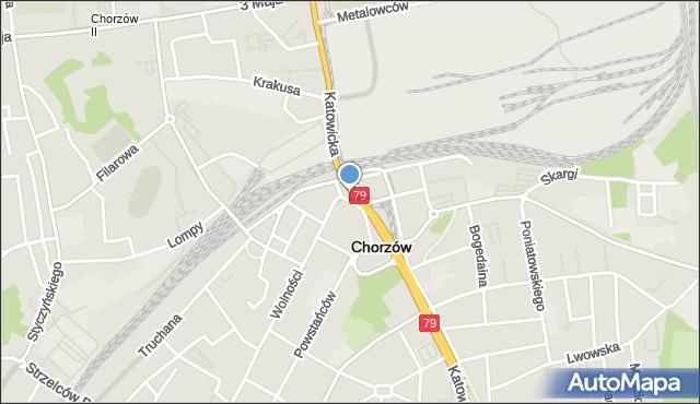 Chorzów, Faski Jana, mapa Chorzów