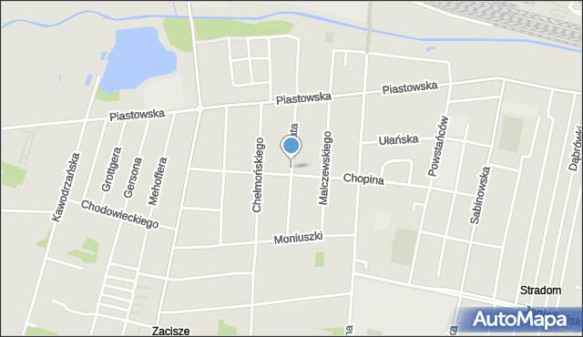 Częstochowa, Fałata Juliana, mapa Częstochowy