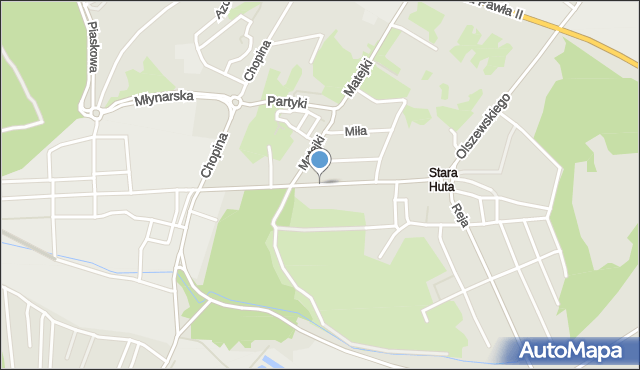 Jaworzno, Fabryczna, mapa Jaworzno
