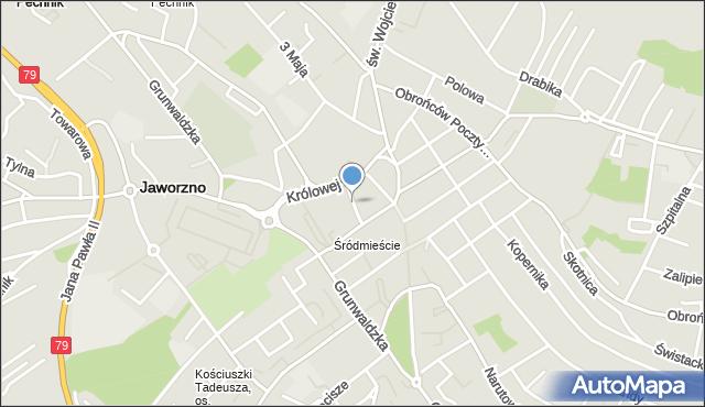 Jaworzno, Farna, mapa Jaworzno