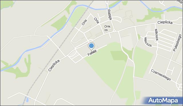 Jelenia Góra, Fałata Juliana, mapa Jelenia Góra