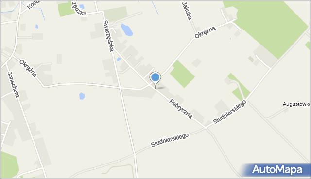 Kicin gmina Czerwonak, Fabryczna, mapa Kicin gmina Czerwonak