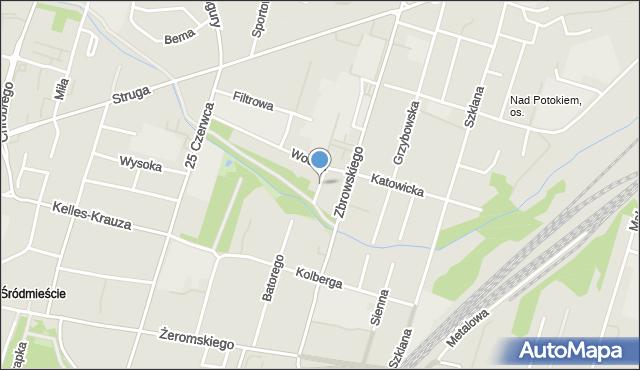 Radom, Fałata Juliana, mapa Radomia