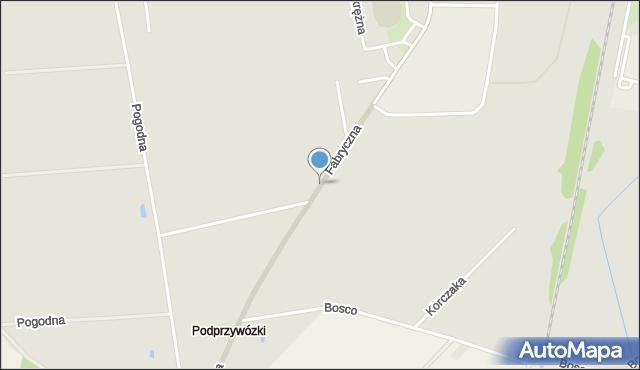 Sokołów Podlaski, Fabryczna, mapa Sokołów Podlaski