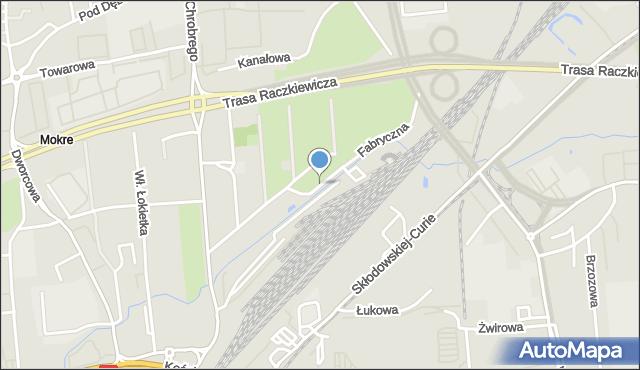 Toruń, Fabryczna, mapa Torunia