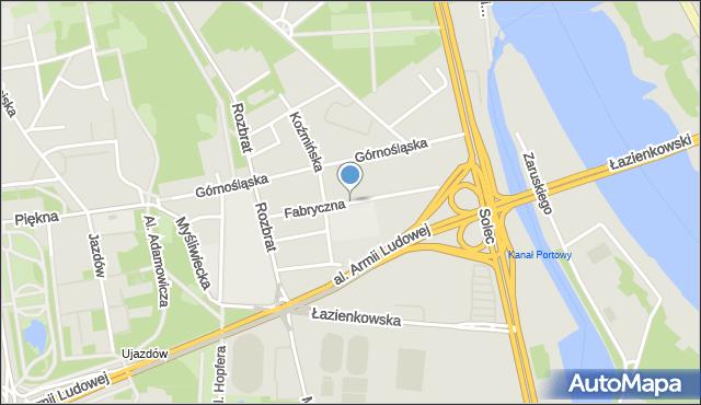 Warszawa, Fabryczna, mapa Warszawy