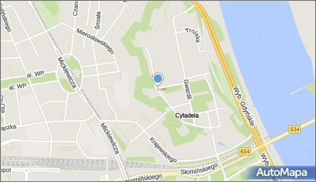 Warszawa, Fawory, mapa Warszawy