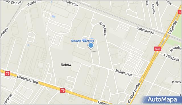 Warszawa, Fajansowa, mapa Warszawy