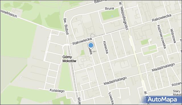 Warszawa, Fałata Juliana, mapa Warszawy
