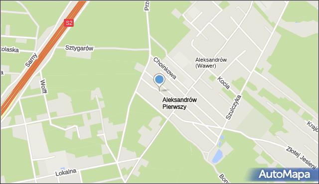 Warszawa, Falenicka, mapa Warszawy