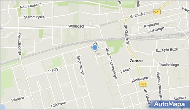 Zabrze, Fabryczna, mapa Zabrza