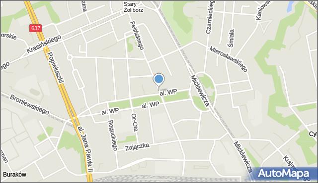 Warszawa, Felińskiego Alojzego, mapa Warszawy