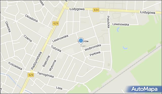 Warszawa, Fersta Mieczysława, mapa Warszawy