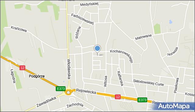 Chełm, Fiołkowa, mapa Chełma