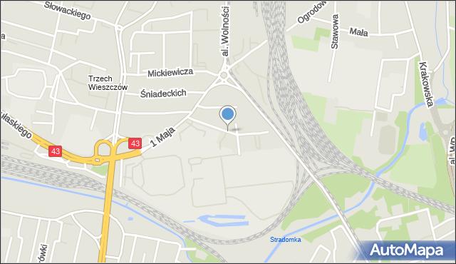Częstochowa, Filomatów, mapa Częstochowy