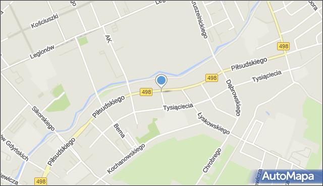 Grudziądz, Filomatów, mapa Grudziądza