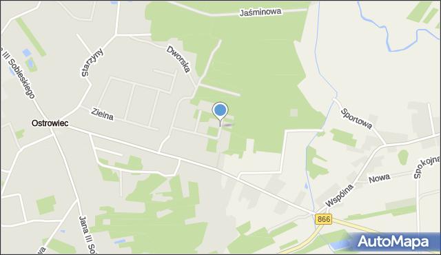 Lubaczów, Fiołkowa, mapa Lubaczów