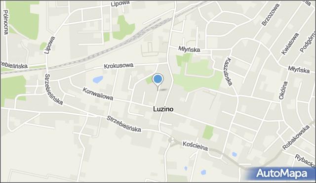Luzino, Fiołkowa, mapa Luzino