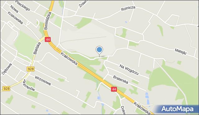 Mikołów, Filaretów, mapa Mikołów