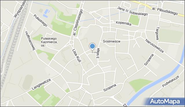 Rzeszów, Fircowskiego, mapa Rzeszów