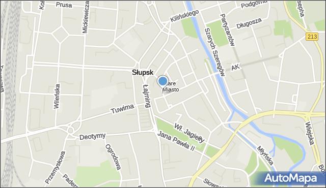 Słupsk, Filmowa, mapa Słupska