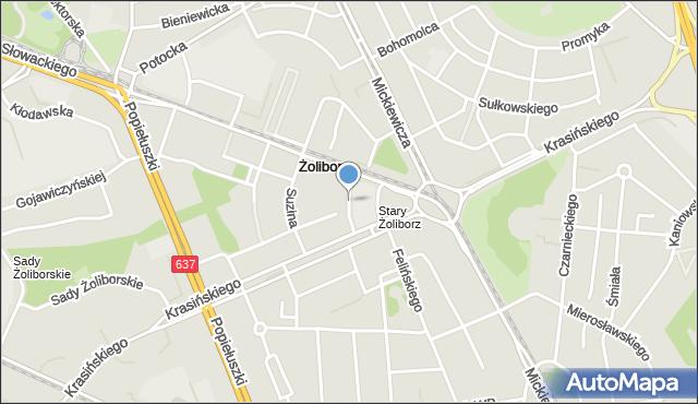 Warszawa, Filarecka, mapa Warszawy
