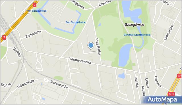 Warszawa, Figiel, mapa Warszawy