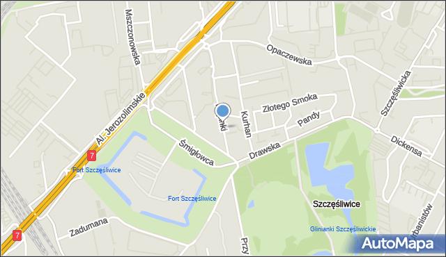Warszawa, Filipinki, mapa Warszawy