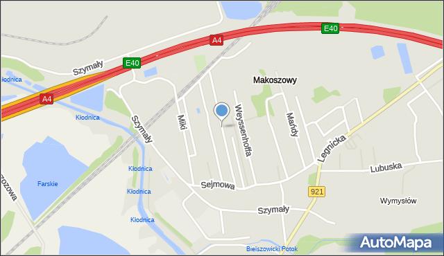 Zabrze, Filipka Maksymiliana, mapa Zabrza