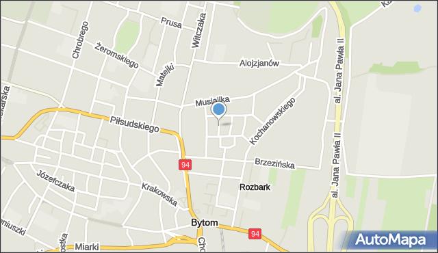 Bytom, Floriańska, mapa Bytomia