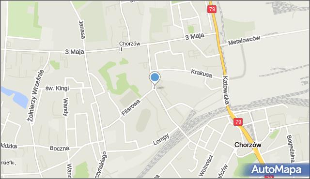 Chorzów, Floriańska, mapa Chorzów