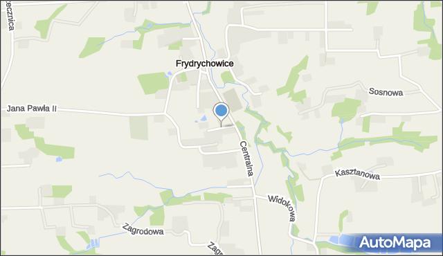 Frydrychowice, Floriańska, mapa Frydrychowice