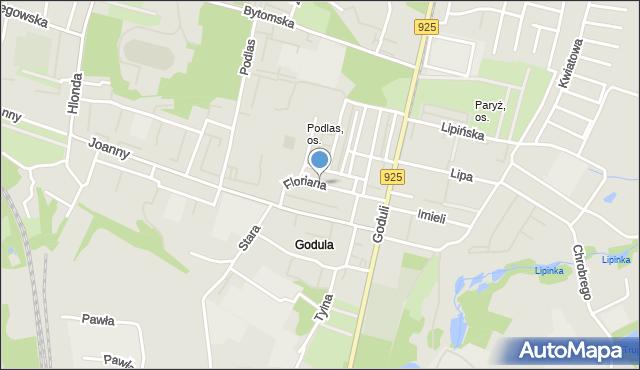 Ruda Śląska, Floriana, mapa Rudy Śląskiej