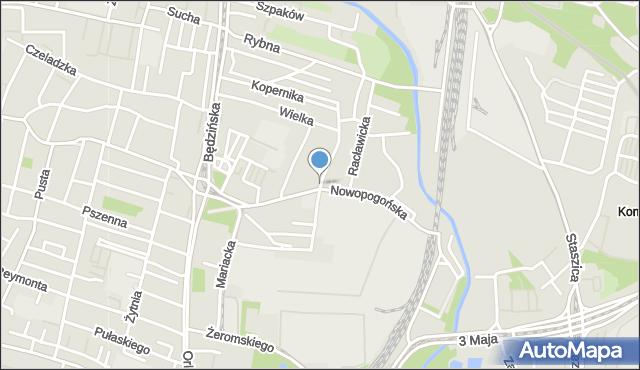 Sosnowiec, Floriańska, mapa Sosnowca