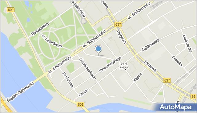 Warszawa, Floriańska, mapa Warszawy