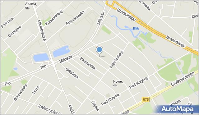 Białystok, Folwarczna, mapa Białegostoku
