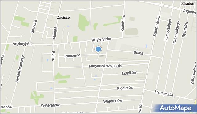 Częstochowa, Forteczna, mapa Częstochowy